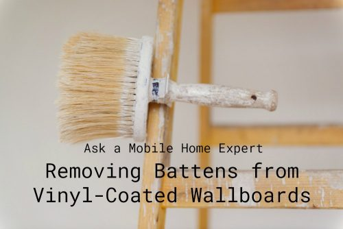 Removing battens from vinyl-coated wallboards in mobile homes - ask a mobile home expert -Green Tips For Remodeling Your Mobile Home