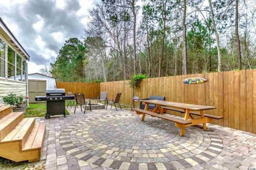 Renovated double wide-back yard