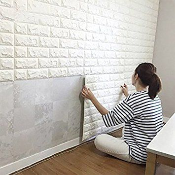 Decorating a rental home with removable wallpaper and panels