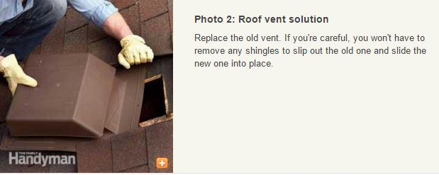 repairing vent leaks on mobile homes