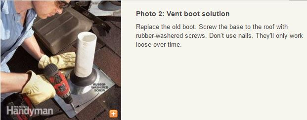 replace a boot on a roof