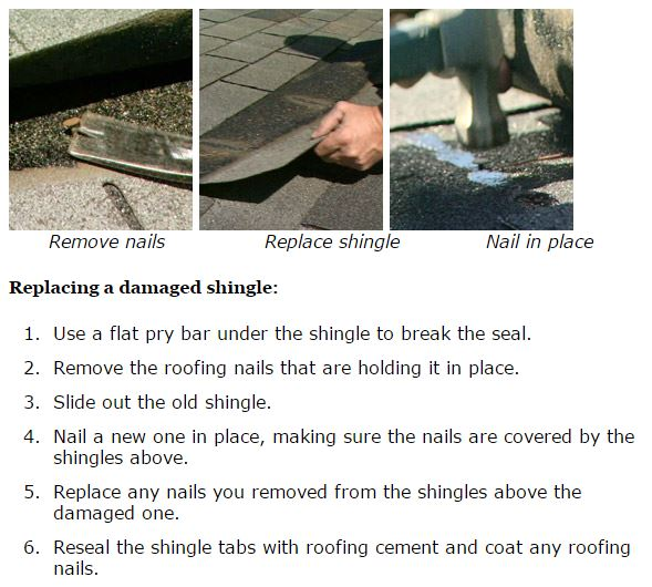 replace a shingle on a mobile home roof