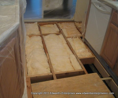 add insulation under flooring in a mobile home 2