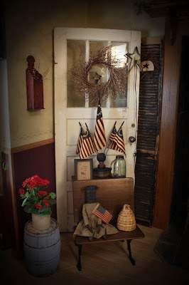 resalvaged doors used in primitive decor