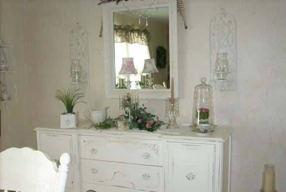 romantic mobile home dining room decor 2