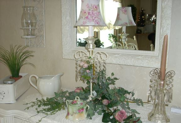 romantic mobile home dining room decor 3