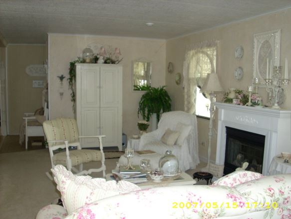 romantic mobile home living room decor 2