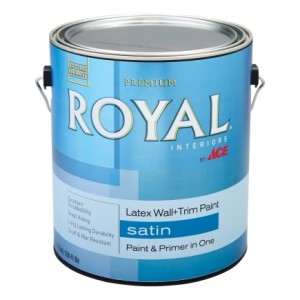 royal paint in satin - Zinnser 123 primer - prepping tileboard for painting - cheap backsplash ideas