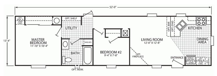 rufruf com single wide manufactured home floor plan use of space - Mobile Home Designs