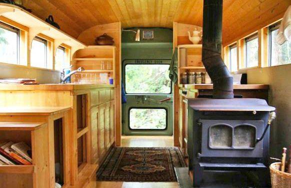 school bus to camper - camper remodels you'll love