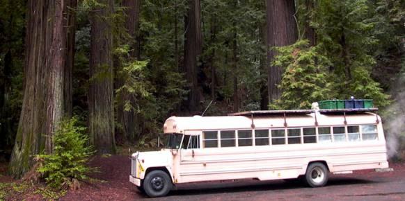 school bus to camper - exterior