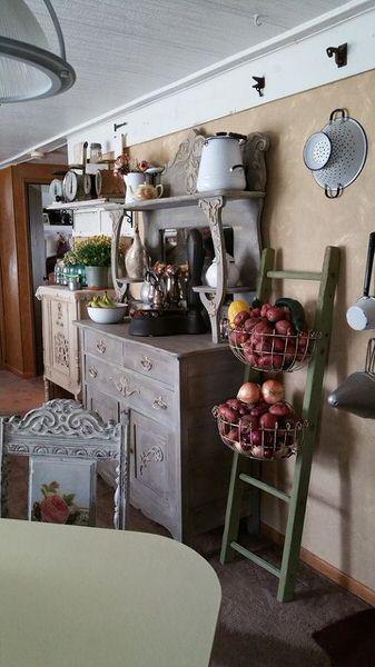 shabby chic decor-remodel-update-buffet