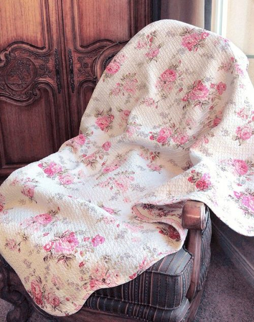 shabby chic decor-throw