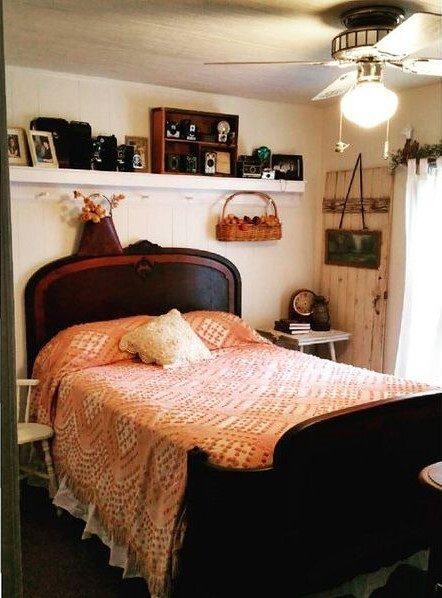 shabby chic remodel update-bedroom