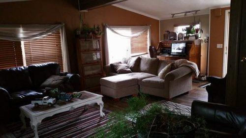 shabby chic remodel update-living room