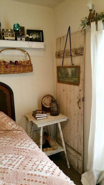 Shabby chic remodel update-repurposed door