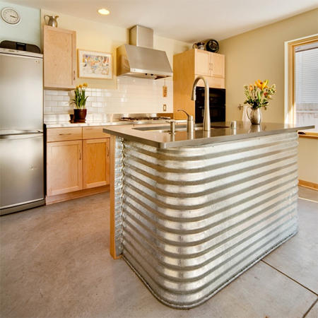 sheet metal home decor-sheet metal kitchen bar