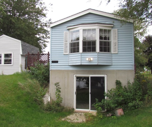 single wide exterior remodel - before