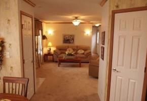 single wide floor plan image of interior