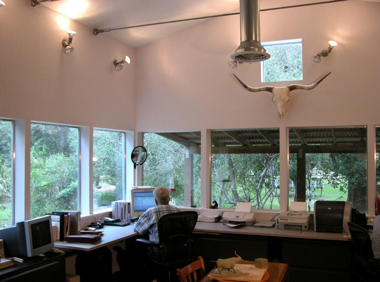 single wide trailer interior office
