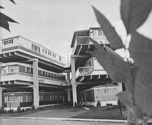 Stacked mobile home highrise - skyerise terrace, vadnais heights mn 1972