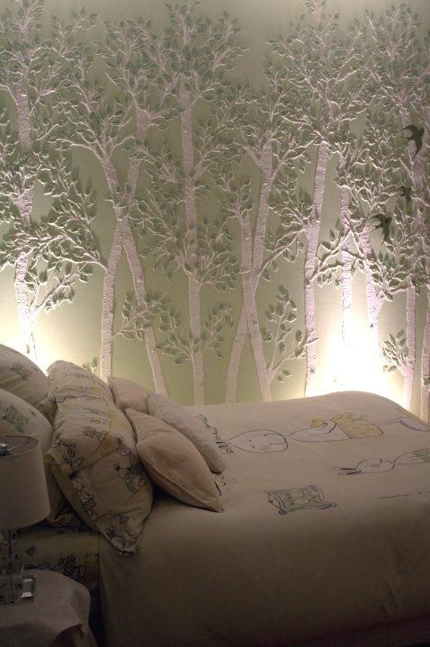 vinyl walls in mobile homes-texture walls using stencil