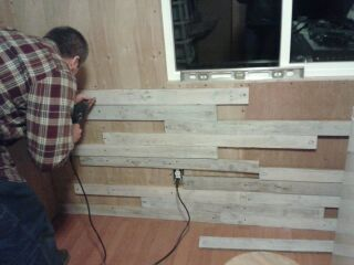adding a new wall in a mobile home laundry room