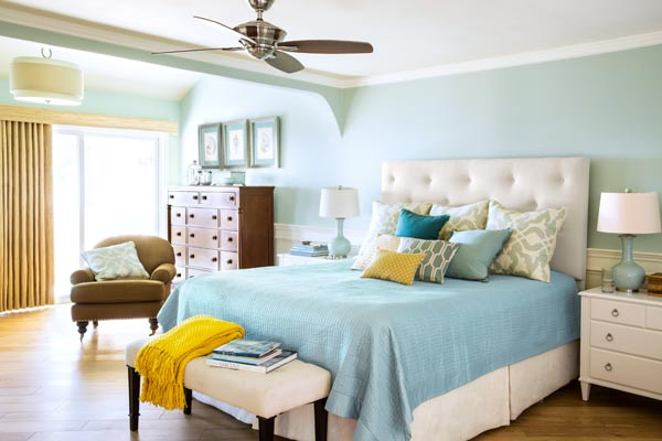 cool colors in small space decorating