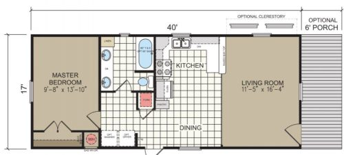 tiny home designs-cimarron floor plan
