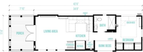 tiny home designs-the alexander floor plan