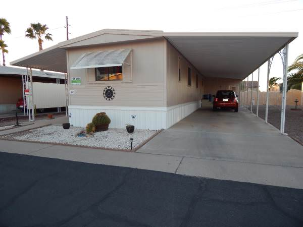 favorite mobile homes for sale - desert beauty exterior