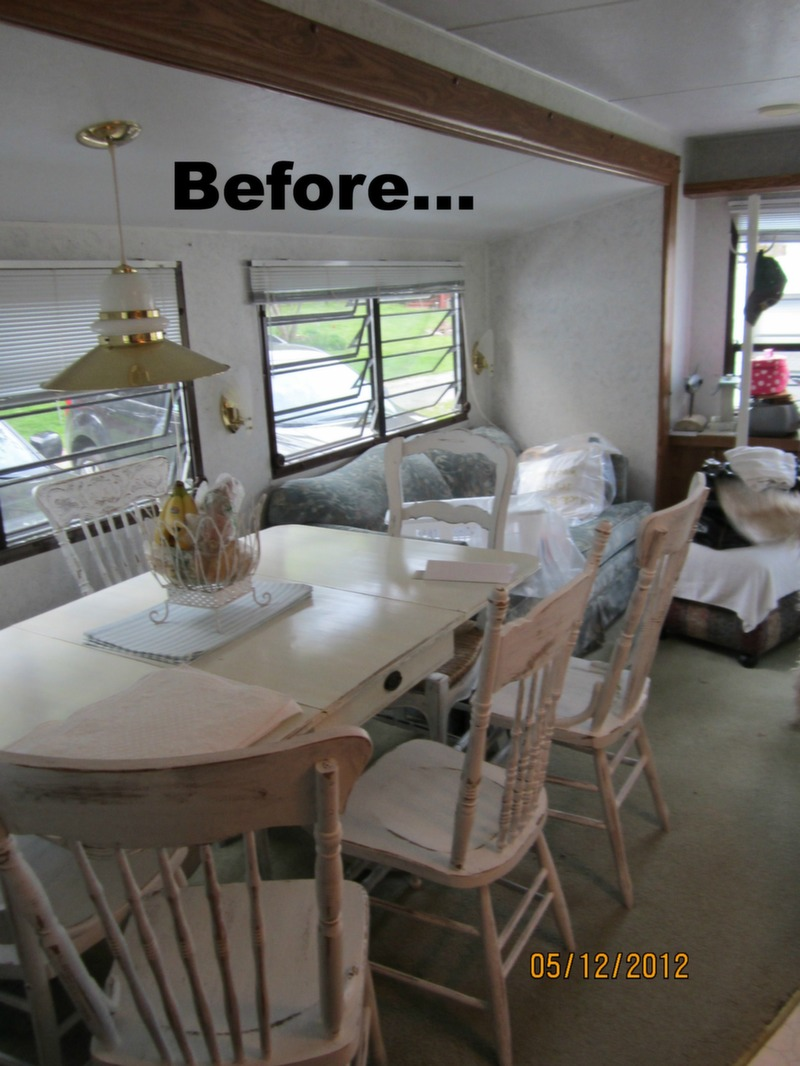 Mobile home decorating beach style makeover for Interior decorating a mobile home