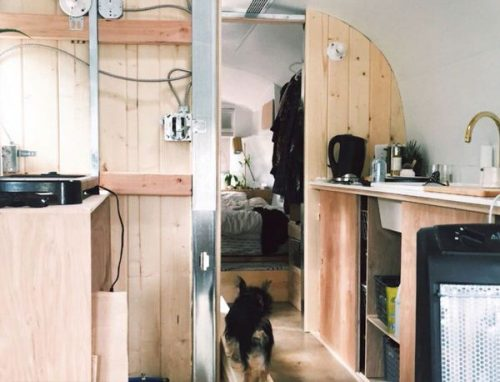 transforming a vintage airstream-kitchen