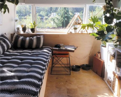 transforming a vintage airstream-living space