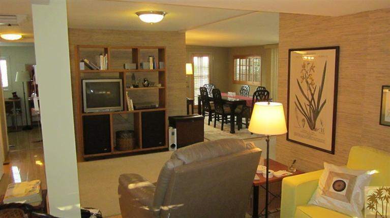 tv room in remodeled mobile home