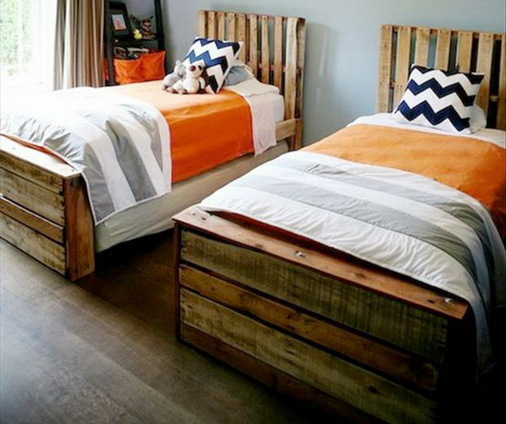 twin bed pallet project