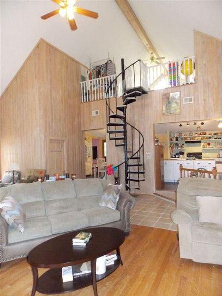 Unique mobile home addition-interior view