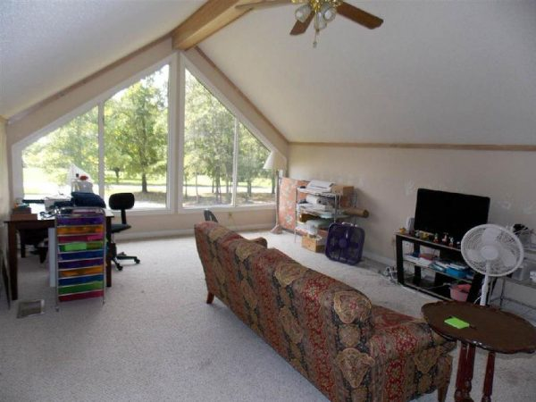 unique mobile home addition-loft view