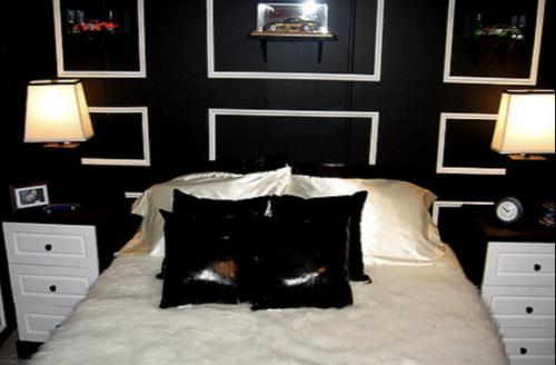 unique mobile home decorating ideas - black bedroom