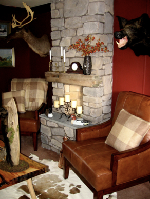 unique mobile home decor - country cabin style living room