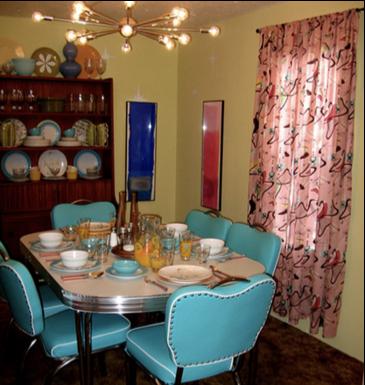 unique mobile home decor - retro style dining room