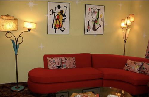 unique mobile home decor - retro style living room