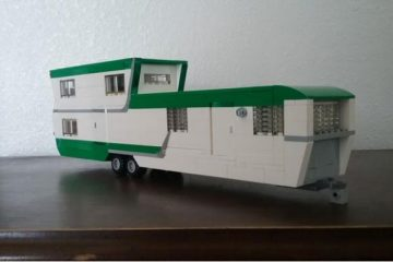 vintage mobile home made from LEGOS