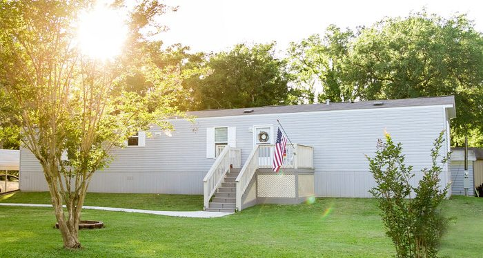 update a new manufactured home-exterior