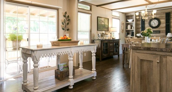 update a new manufactured home - kitchen island