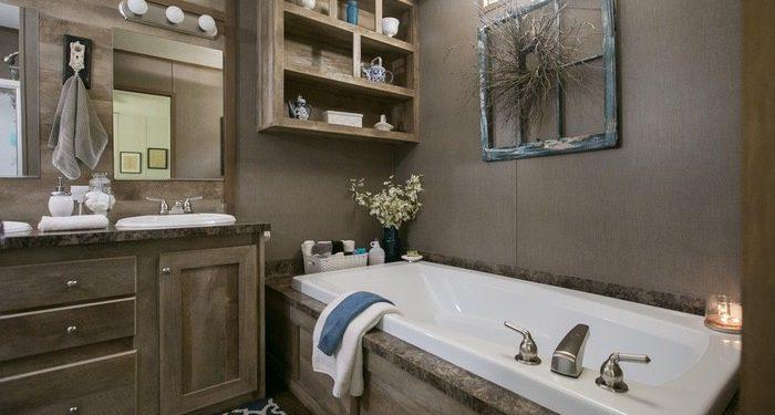 update a new manufactured home - master bath