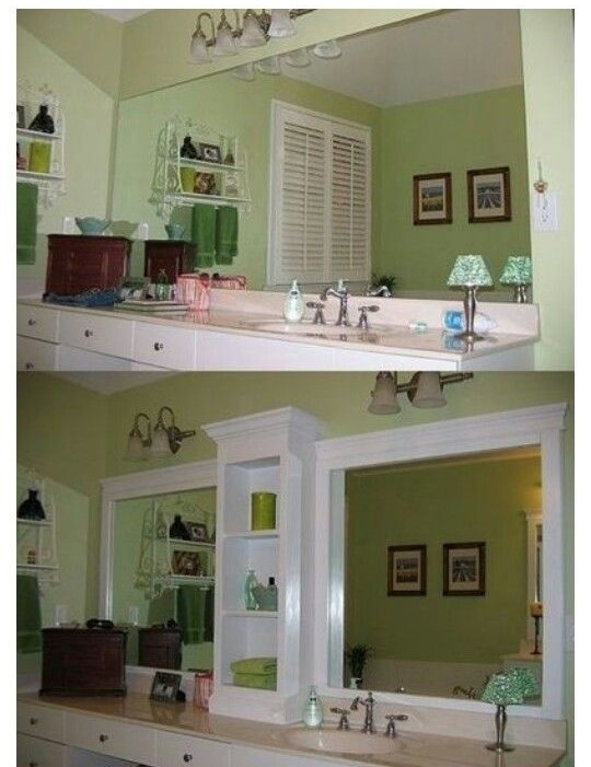 update your mobile home bathroom-changing the bathroom mirror