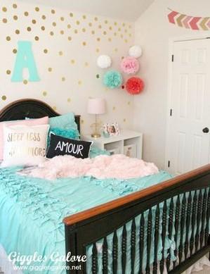 update your mobile home bedroom-tween girl room