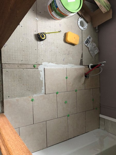 updated single wide-bathroom during