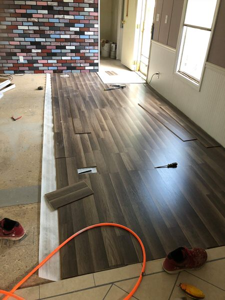 updated single wide-flooring during 3
